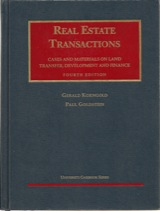 Real Estate Transactions — Cases and Materials on Land Transfer