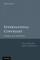 "Book cover image ""International Copyright: Principles, Law, and Practice """